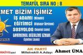 Ahmet Ünalan'ın Temayül Sıra Numarası  8