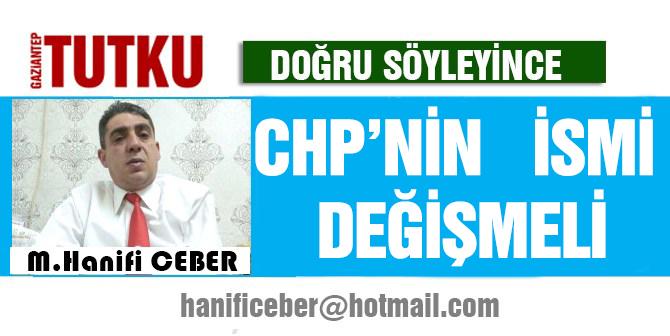CHP'nin İsmi değişmeli