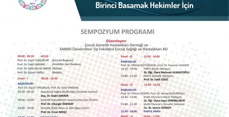 """""""6. ÇOCUK GENETİK HASTALIKLARI SEMPOZYUMU"""""""