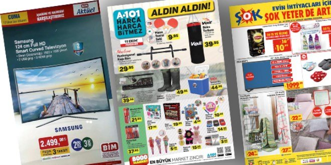 ŞOK, A101 ve BİM Fırsat Ürünleri