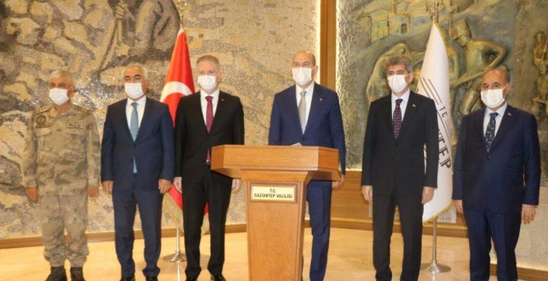 Soylu, Gaziantep'te güvenlik toplantısına katıldı