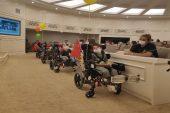 Gaziantep'te engelli çocuklara tekerlekli sandalye
