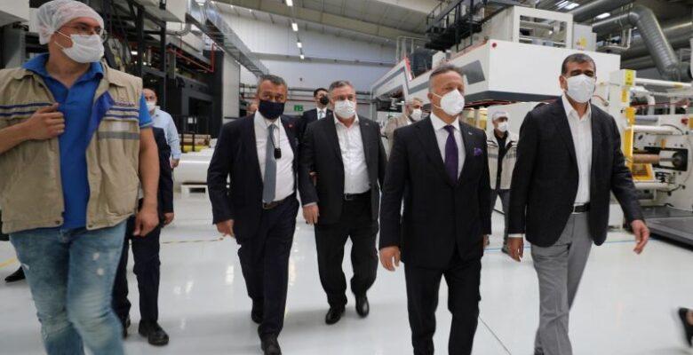 TİM Başkanı İsmail Gülle Altunkaya Grup Üretim Tesislerinde inceleme yaptı