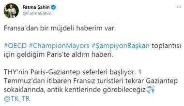 Şahin Paris-Gaziantep seferlerinin tekrardan başlayacağını müjdeledi
