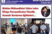 MMO'dan İtfaiye Personellerine Yönelik, Asansör Kurtarma Eğitimleri…