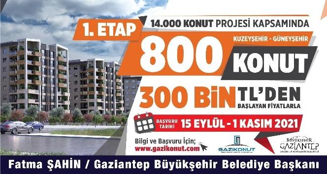 Gaziantep'te 14 bin konut için ön talep toplanmaya başladı
