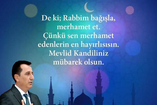 Başkan  Sakaroğlu'ndan Mevlid Kandili mesajı