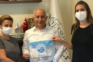 Büyükşehir'e 'Bisiklet Dostu İşveren' ünvanı